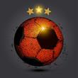 gold star red soccer ball