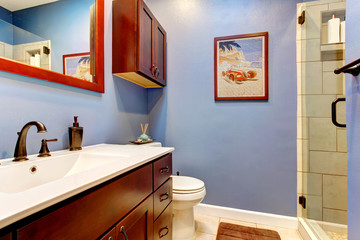Lavender cozy bathroom