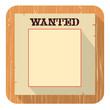 Wanted poster icon.Vector flat style design