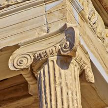 ancienne détail de la colonne, l'Acropole d'Athènes, Grèce