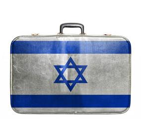 Vintage travel bag with flag of Israel