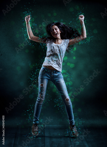 canvas print picture Young woman dancing