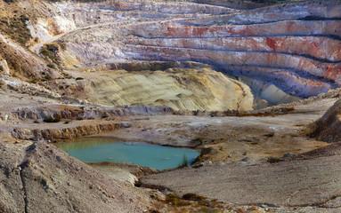 Opean air mining.Quarry.Milos island,Greece.
