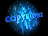 Copyright on Dark Digital Background.