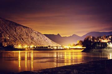 Nachtaufnahme am Davosersee - Schweiz