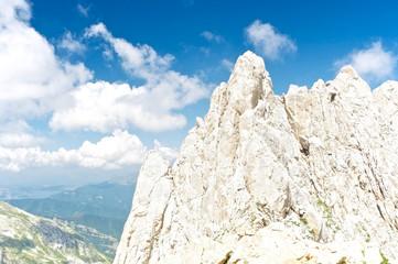 The summit of Corno Piccolo, Gran Sasso, Abruzzo, Italy