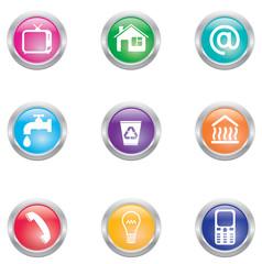 utility bills icons
