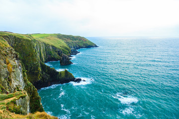 Irish landscape. coastline atlantic coast County Cork, Ireland