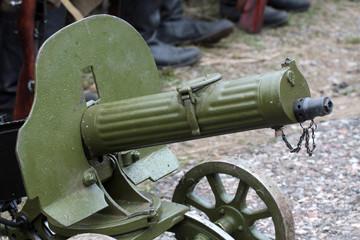 Old Powerful Military machine Gun - Maxim gun