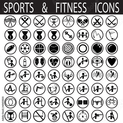 sports and fitness icons