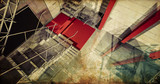 laboratory. Modern industrial interior, stairs, clean space in i