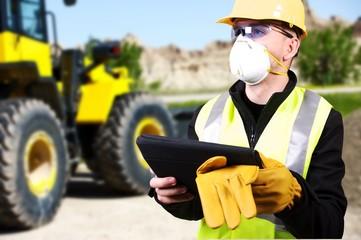 Contractor and Bulldozer