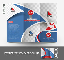 Home Security Center Tri-Fold Brochure