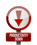 productivity down sign illustration design