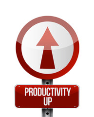productivity up sign illustration design