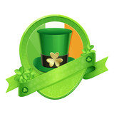 Sticker Green Cylinder St Patrick's Day