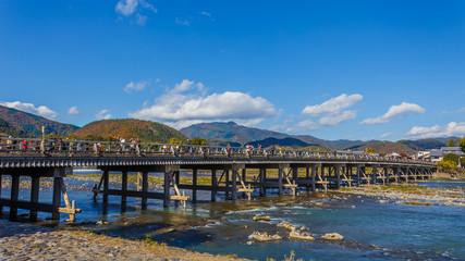Togetsu-kyo Bridgeat Arashiyama in Kyoto