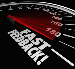 Fast Feedback Words Speedometer Instant Answer Reply Response
