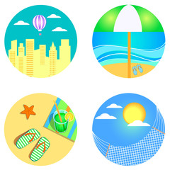 icons for summertime