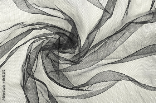 Black tulle background