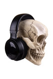 skull with earphones