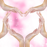 Valentine Abstract Heart of Woman Hands.Love