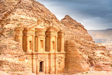 Ad Deir in the ancient Jordanian city of Petra, Jordan