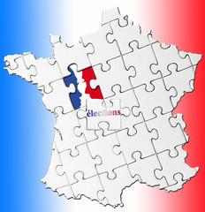 concept élections en France, parité homme / femme
