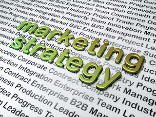 Marketing concept: Marketing Strategy on Business background