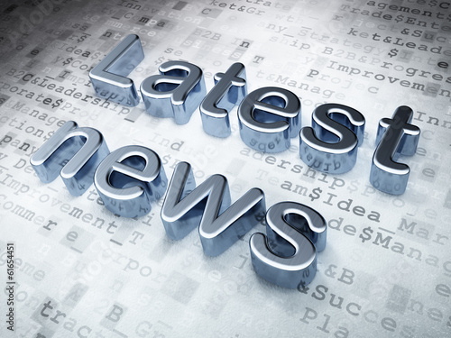 News concept: Silver Latest News on digital background
