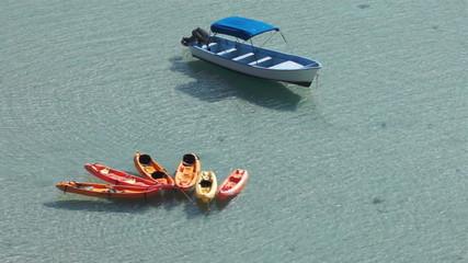 Kayaks Boat Ocean Bay