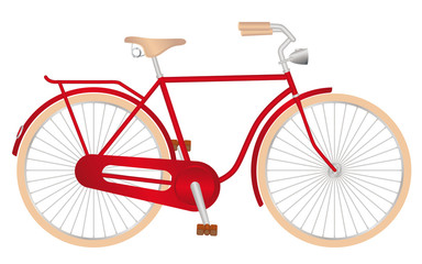 stylish red bicycle