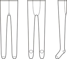 Vector illustration of women's tights