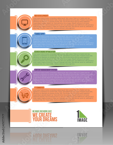 Web Service Back Flyer Template