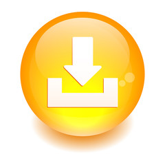 bouton internet arrow download icon orange