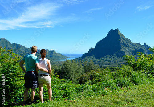 Couple in French Polynesia