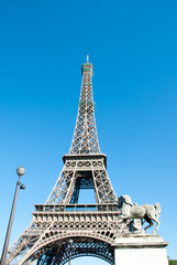 Eiffel Tower against a Blue Sky IV