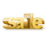 3d golden text sale