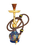 Arabic hookah isolated on a white background
