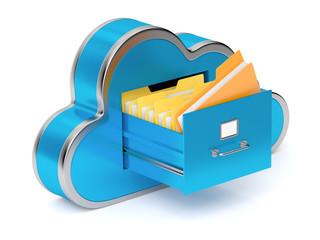 Cloud shaped file cabinet
