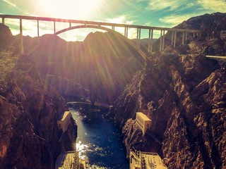 bridge over colorado river at hoover dam
