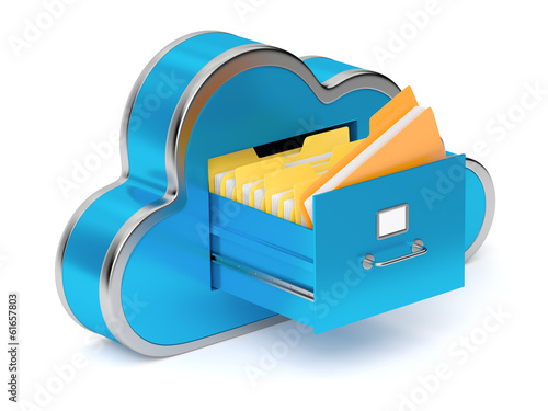 Cloud shaped file cabinet