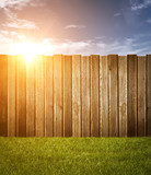 Garden Fence on Sun in Sky