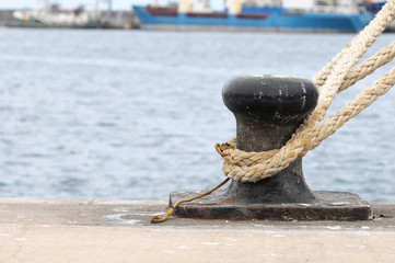 Rusty Mooring on a Pier