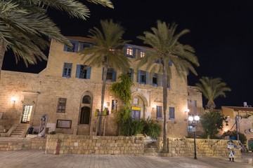 Old Jaffa at night . Israel