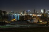 Tel aviv at  night panoramic view from Jaffa