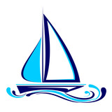 yacht icon vector  illustration