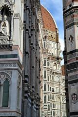 Detalle del Duomo de Firenze,Catedral de Florencia.