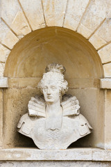 bust of Queen Elizabeth, Stowe, Buckinghamshire, England