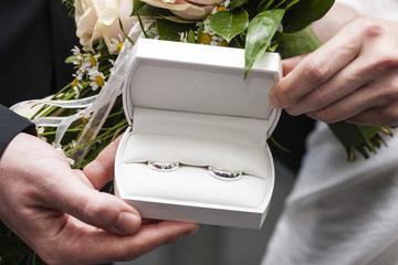 Wedding Boutonniere and Wedding Bands